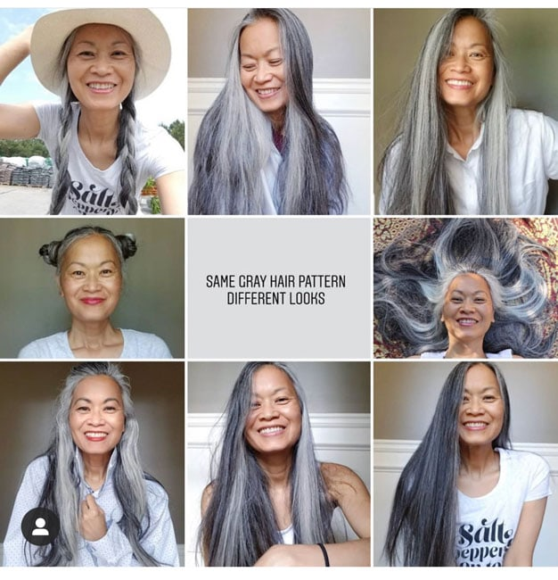 Check out some of these stunning styles and creative ways to wear your natural gray hair