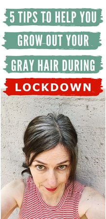 image of woman going gray during lockdown