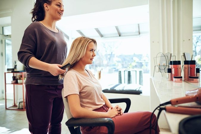 image of woman in salon