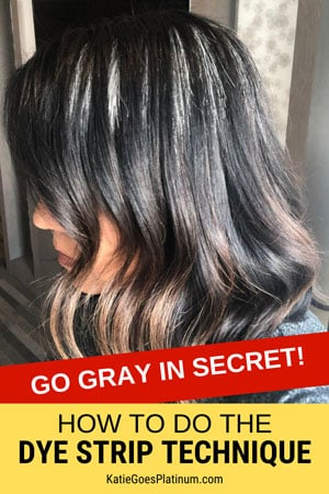 Why The Dye Strip Technique Is The Best Way To Go Gray In Secret