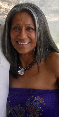image of lady with shoulder length gray hair