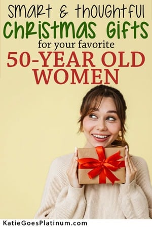 image of pinterest image of woman over 50 christmas present