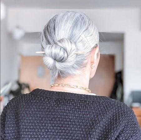image of woman with gray bun