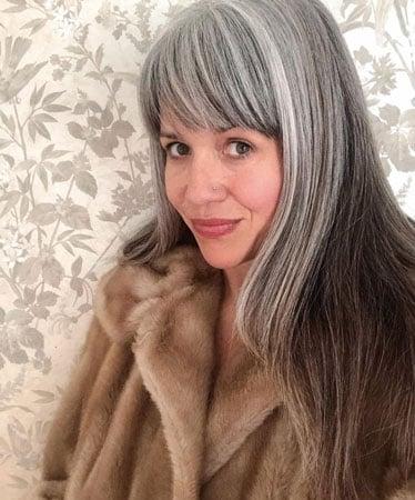 image of woman in fur coat