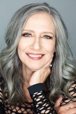 image of older woman wavy gray hair