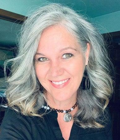 image of woman gray wavy hair