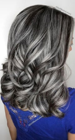image of lowlights on gray hair by jack martin
