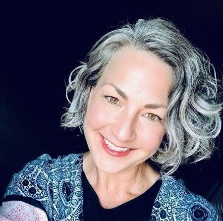 image of pretty woman gray hair